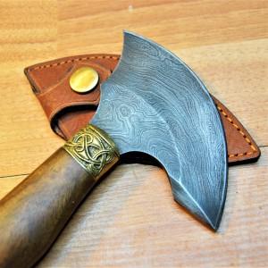 """Нож """"Секирка"""" для раскроя и шерфования кожи"""