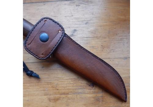Образец ножен из кожи ручной работы под заказ 3