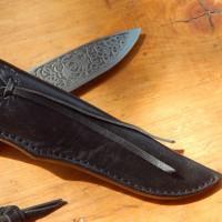 Образец ножен из кожи ручной работы под заказ 1