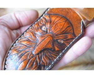 Ножны ручной работы Кондор резьба по коже