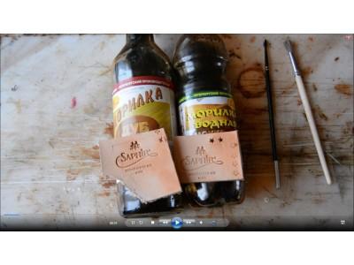 0.043 Уроки покраски кожи. Сравнение действия водной и спиртовой морилки на коже растительного дубления
