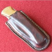 Кожаные ножны под BUCK 110 вертикальный подвес цвет антик бордо MS1-1