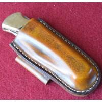 Кожаные ножны под BUCK 110 горизонтальный подвес цвет антик браун MS3-1