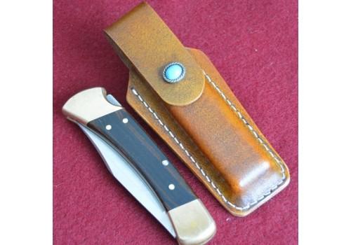 Кожаные ножны под BUCK110 вертикальный подвес цвет антик браун MS6-1