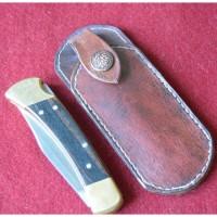 Кожаные ножны под BUCK 110 вертикальный подвес подвес цвет антик тан MS8-1