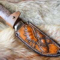 Фентези стиль ножны ручной работы из резной кожи Сохатый MSA10