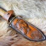 Фентези стиль ножны ручной работы из резной кожи Пардус MSA11