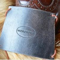Зашита обуви водителя (автопятка) для классической мужской обуви из особочувствительной кожи, блэк вотер кожа, фетр