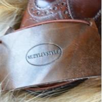 Зашита обуви водителя (автопятка) для классической мужской обуви из особочувствительной кожи, компакт кожа, фетр