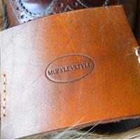 Зашита обуви водителя (автопятка) для классической мужской обуви из особочувствительной кожи, широкая резинка кожа, фетр