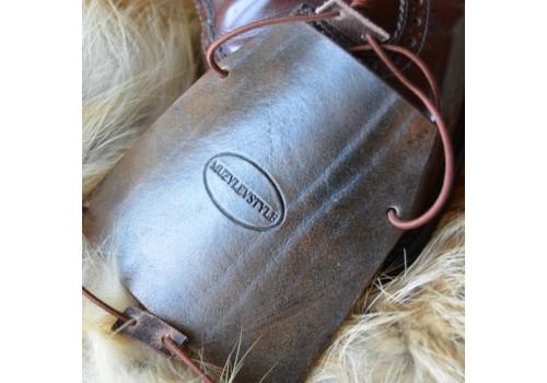 Зашита обуви водителя (автопятка) мужских сапог и ботинок из особочувствительной кожи, кожа, фетр