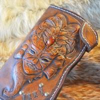 Фентези классик стиль портмоне кожаный ручной работы Лед и Пламя