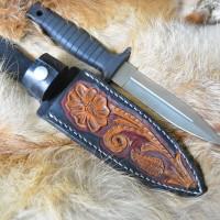 """Чехол """"Техасский стиль"""" блэк&браун подарочный для коллекционных ножей MSA12"""