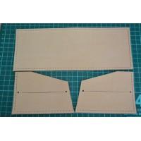 Выкройка -  полуфабрикат кожаного кошелька  WK1