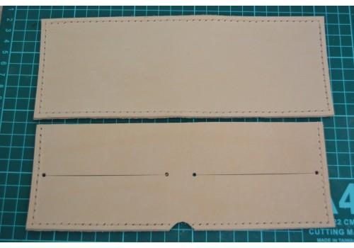 Выкройка - полуфабрикат кожаного кошелька WK2