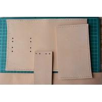 Выкройка - полуфабрикат мужской поясной сумки WK5