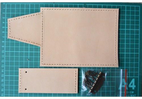 Выкройка - полуфабрикат кожаной ключницы WK7
