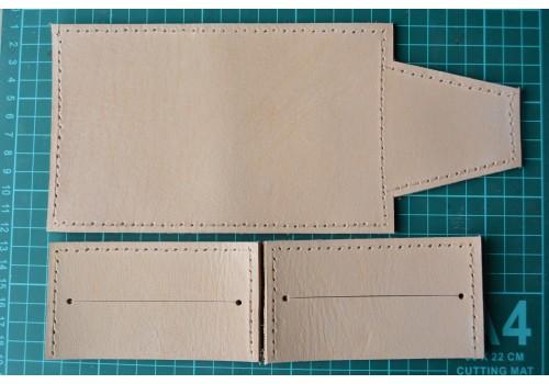 Выкройка - полуфабрикат кожаного кошелька-визитницы WK6