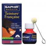 Краска для кожи растительного дубления проникающая, спиртовая Saphir Teinture francaice арт 0812 50 мл темно-коричневая