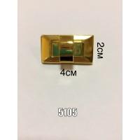 Замок для сумки, портфеля арт.5105 поворотный золото