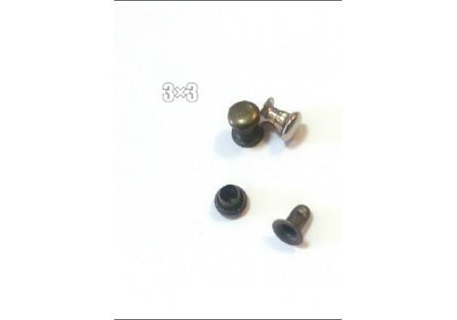 Хольнитены галантерейные  3мм никель  500шт/фас