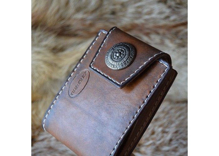 5a401887f754 Кошелек мужской ручной работы из натуральной кожи, базовый купить в ...