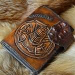Джент стиль портмоне мужской ручной работы резьба, кожа крокодила Белый Рыцарь
