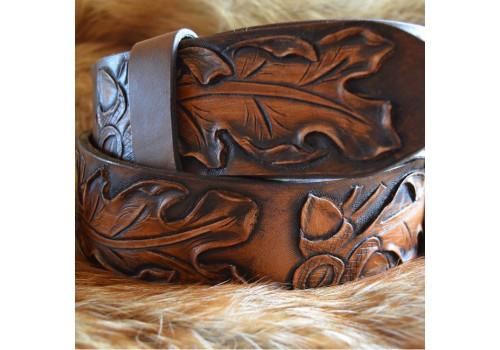 Барокко классик стиль широкий ремень ручной работы из единого куска кожи