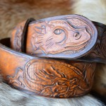 Джент классик стиль ремень кожаный ручной работы Повелитель Драконов