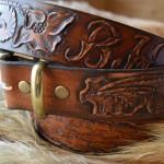 Барокко классик стиль ремень ручной работы из единого куска кожи с вензелем