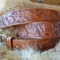 Барокко классик стиль ремень кожаный. ручной работы Резьба по коже