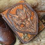 """Стиль Любителя Чистой Обуви сумка кожаная ручной работы под косметику """"Он - Дракон"""""""