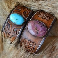 Фентези стиль образцы кожаных браслетов ручной работы