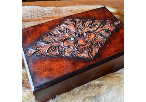 Стоун классик стиль ларец для обувной косметики ручной работы бирюза, гранат