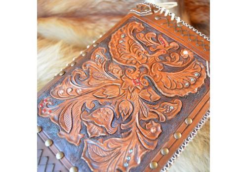 Фентези стиль обложка на ежедневник ручной работы Яр-Птица