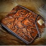 Кошелек кожаный ручной работы Яшмовый Карп
