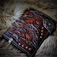 Байк классик стиль портмоне ручной работы с ключницей и вставкой под автодокоменты