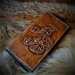 Барокко стиль образец именного портмоне ручной работы