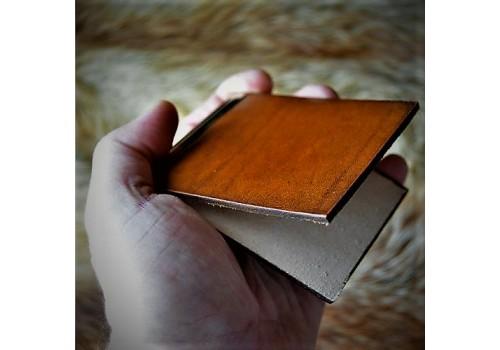 """Проект """"Вспомни кожу"""" Купюродержатель ручной работы  базовый из натуральной кожи"""