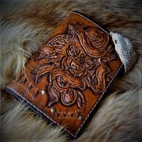 Джент стиль портмоне кожаный ручной работы Бросок Кобры